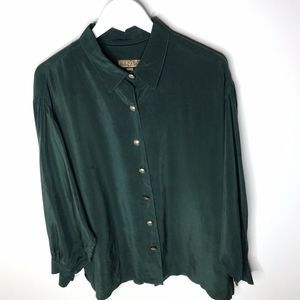 Double D Ranch Silver Tooled Buttons Blouse
